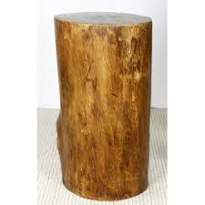 tree trunk end table tree stump accent table wayfair
