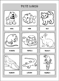 pets vocabulary for kids learning english printable resources