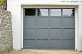home style report painted garage door valspar muted ebony paint