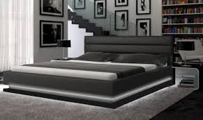 Platform Bed Ebay - ladeso sf 848 q b sl brooklyn black modern queen platform bed w