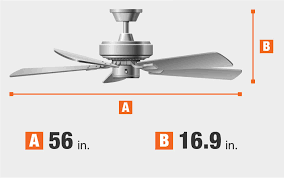 a ceiling fan with 16 in blades home decorators collection bordere 56 in led indoor brushed nickel