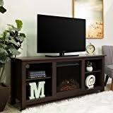 Amazon Fireplace Tv Stand by Amazon Com Walker Edison W58fp18es Fireplace Tv Stand Espresso