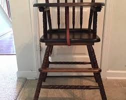 Antique Wooden High Chair Spindle High Chair Etsy