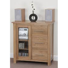 media cabinet with drawers alto solid oak hifi cd media or shoe cabinet shoe cupboards tv