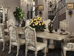 Mixed Dining Room Chairs Dining Table Candle Centerpiece Table Having Round Tapered Legs