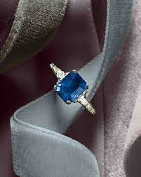 sapphire engagement rings 44 engagement rings with brilliant cut and color martha stewart