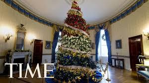 christmas tree house first lady melania trump receives the 2017 white house christmas
