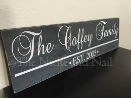 family sign personalized home decor handmade home decor gift