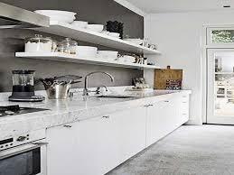cuisine blanc et cuisine blanc laque et bois beau cuisine blanche et plan de travail