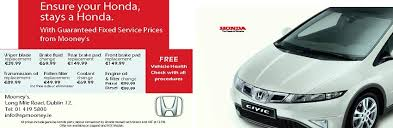 honda cars service guaranteed fixed price honda servicing