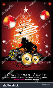 abstract christmas party disco music background stock illustration