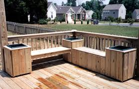 bench deck with built in bench deck w bench seating repinned by