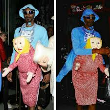 baby halloween costume old lady snoop dogg u0027s giant baby costume attached back of frail old woman