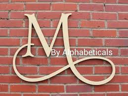 wooden letters decor wall ideas for letter m lettering nursery