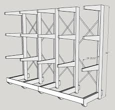 Build Free Standing Storage Shelves by Free Standing Lumberrack