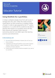 using onenote for eportfolios teaching with technology