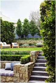 backyards fascinating sloping backyard landscaping ideas simple