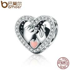 sterling silver heart bead bracelet images Bamoer romantic genuine 925 sterling silver promise for love heart jpg