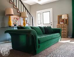 Emerald Green Velvet Sofa by Thrift Score Thursday 52 The Gathered Home