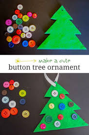 Easy Christmas Tree Decorations Button Christmas Tree Ornament Cute U0026 Simple Hands On As We Grow