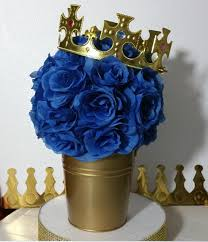 baby shower centerpieces boys flower pail royal prince baby shower table centerpiece boys