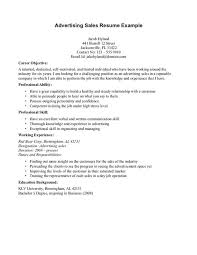 Advertising Account Executive Resume Resume Objectives Resume Objective Example Account Executive