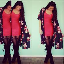 jaimie g nasty gal rose kimono forever 21 red nylon dress