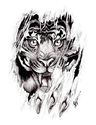 tiger tattoo design on clipart library aztec tattoo designs fox