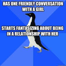 Meme Socially Awkward Penguin - socially awkward penguin sarah