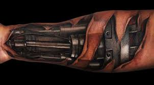 Machine Tattoo Ideas 3d Biomechanical Tattoo Designs Zestymag