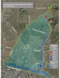 Flood Plain Map City Of Scottsdale Reata Flood Control Study