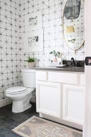 powder room rug 12th and white one room challenge the reveal modern traditional