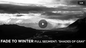 full segment from fade to winter u201cshades of gray u201d 4k uhd on vimeo
