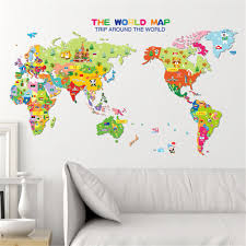 Diy World Map by Online Get Cheap Kids Decals World Map Aliexpress Com Alibaba Group