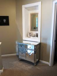 Target Console Tables Nightstand Simple Target Mirrored Furniture With Cream Wall And