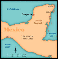 Mexico On The Map by Campechemap Jpg