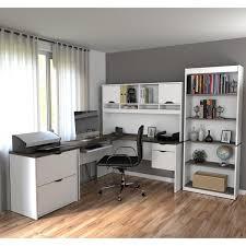 bestar innova u shaped workstation desk bestar innova l shaped workstation desk set free shipping today