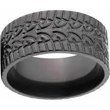 black zirconium wedding bands custom men s tire tread ring black zirconium wedding band with