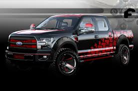 Ford F 150 Camo Truck Wraps - seven modified 2016 ford f 150 pickups coming to sema motor trend
