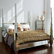 Best Mirrored Beds Images On Pinterest Mirrored Furniture - Bedroom ideas with mirrored furniture