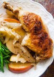 apple turkey recipes thanksgiving chicken normandy chicken with apples brandy onions and cream