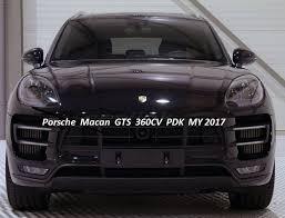 porsche macan sunroof porsche macan gts 360cv pdk my2017 exterior black interior