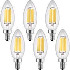bogao 5 pack led candelabra bulb 9w daylight led candle bulbs