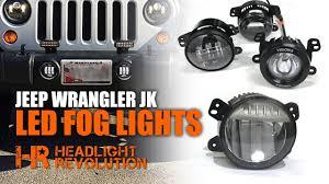 Jk Led Fog Lights The Brightest Jeep Wrangler Fogs Myotek Oem Vs Jw Speaker Vision