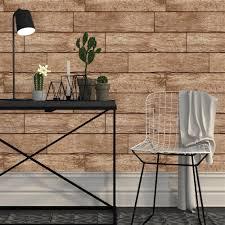 horizontal chestnut wood planks rustic lodge removable wallpaper