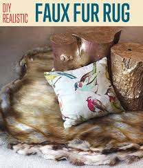 How To Make A Faux Fur Rug How To Make A Faux Fur Rug Diy Projects Craft Ideas U0026 How To U0027s For