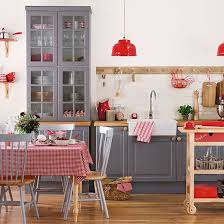 Shaker Style Interior Design by Grey And Red Shaker Style Kitchen Kitchen Decorating Ideal