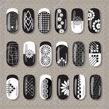 nail design black and white u2014 stock vector smska 72626893