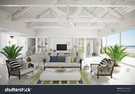 retro beach house style house interior