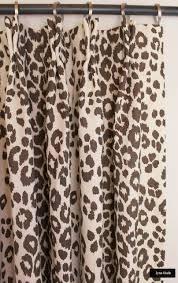 Bathroom Drapery Ideas Colors Bathroom With Schumacher Iconic Leopard Drapes